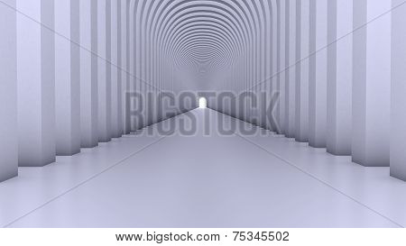 Abstract Modern Background, empty futuristic interior, Columns Hall