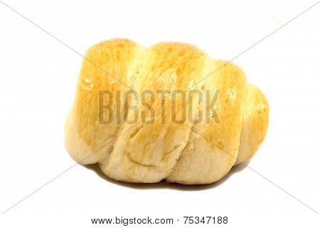 Fresh Cream Cornet Bread - Isolated On White Background.
