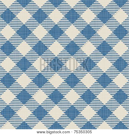 Seamless texture of blue plaid