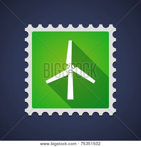 Mail Stamp With A Wind Generator