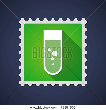 Mail Stamp With A Chemical Test Tube