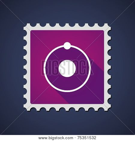 Mail Stamp With An Atom