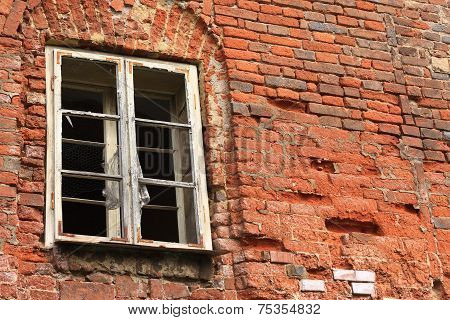 The broken wall and window