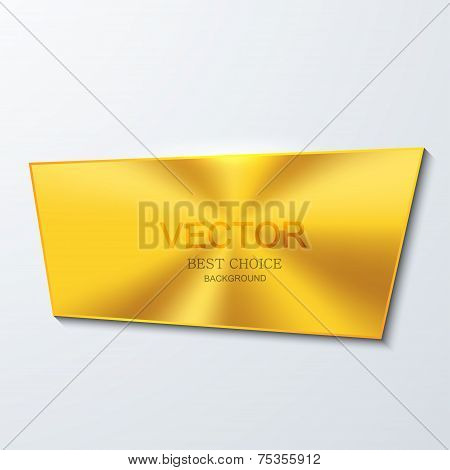 Vector moder golden banner element design.