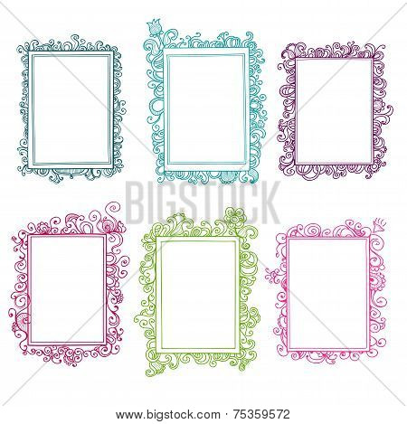 Collection of floral frames