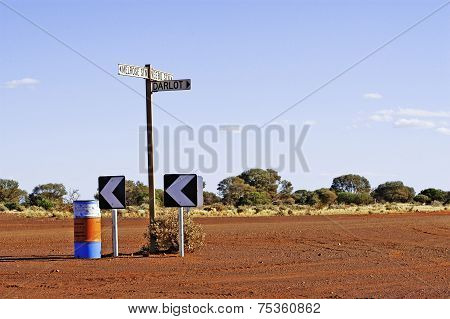 The Panel Direction Indicators Are Rare In The Australian Outback