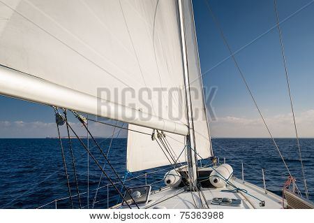 Sailing in Mediterranean sea