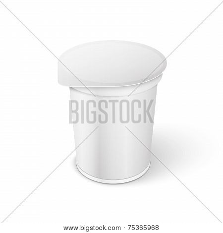 Short And Stout Plastic Container