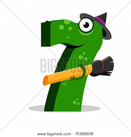 The English alphabet. Figure 7, the seventh. Crocodile