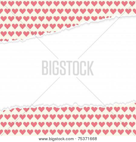 Vector Open Paper Hearts
