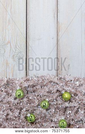 Background Green Christmas Balls