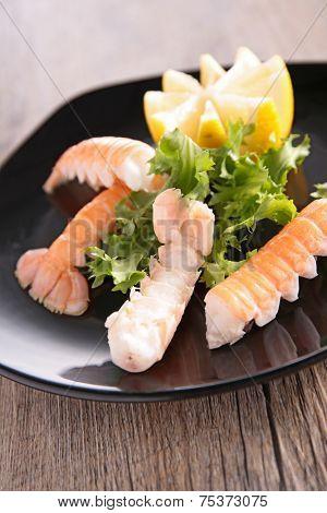langoustine and salad