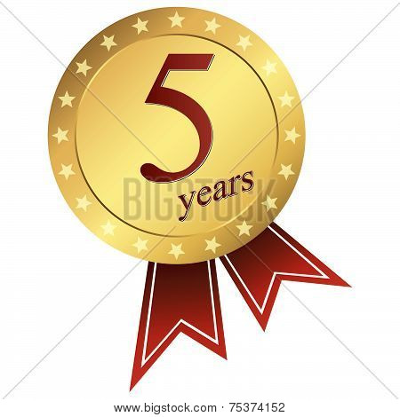 Gold Jubilee Button - 5 Years