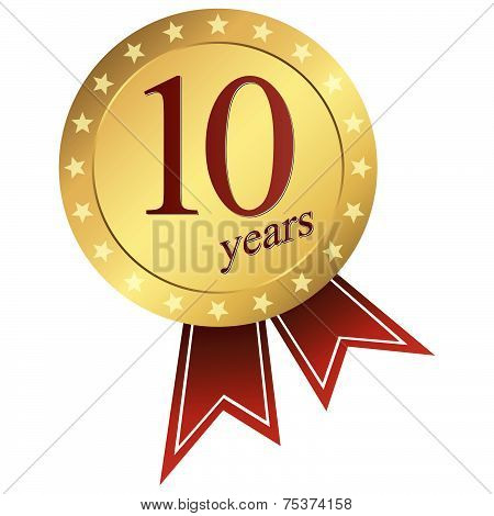 Gold Jubilee Button - 10 Years