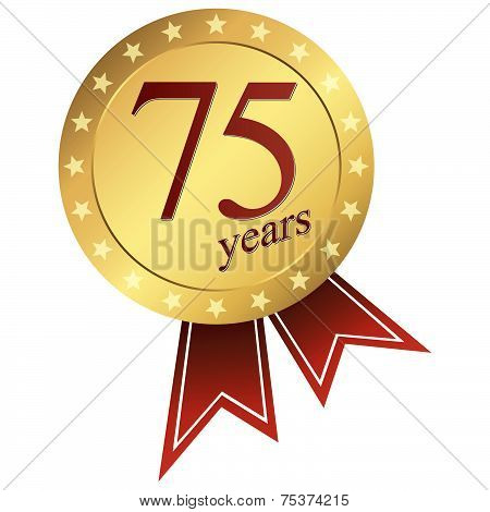 Gold Jubilee Button - 75 Years