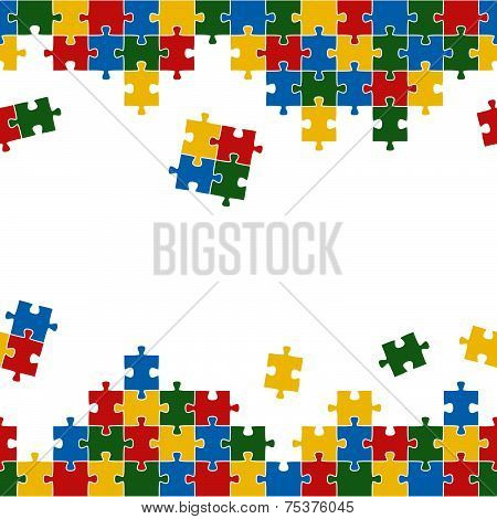 Puzzle Background Colorful And Endless