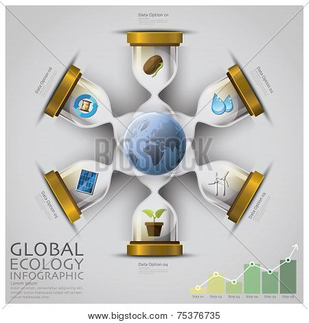 Sandglass Global Ecology And Environment Infographic