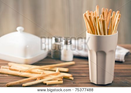 breadsticks grissini in cup