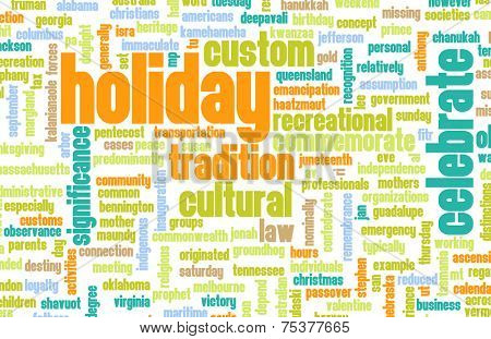 Going on Holidays or a Public Holiday as Concept