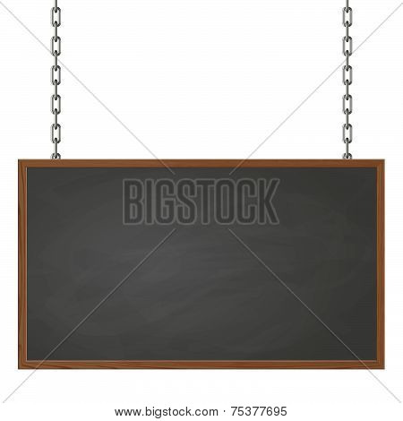 Signboard Hanging On Chains