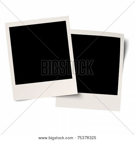 Blank old photos On White Background