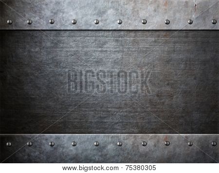 grunge armor metal with rivets background