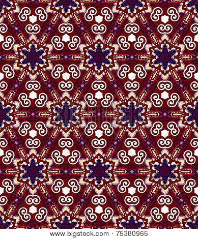 seamless geometry violet colour vintage pattern