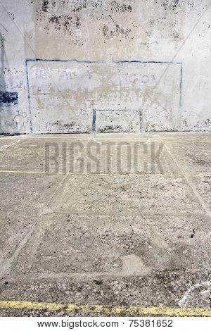 Soccer Goal Drawn On A Wall