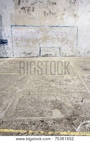 Soccer Goal Drawn On A Wall
