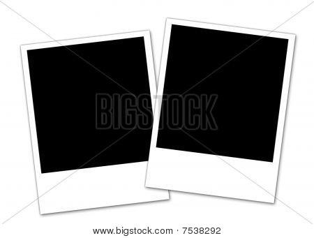 zwei Polaroid-Fotos