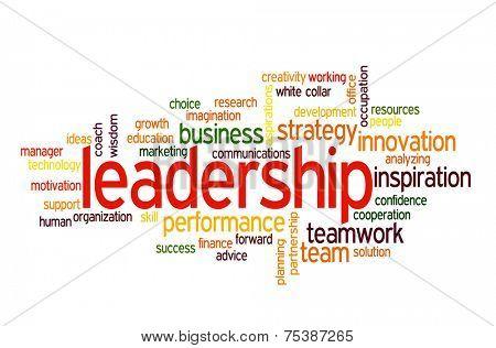 Leadership conceptual text word cloud