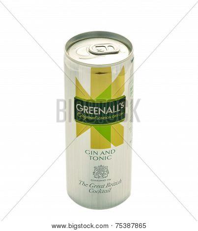 Gin And Tonic Greenalls Original London Dry Gin