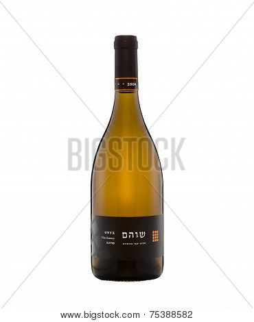 One Bottle Of Dry White Wine Onyx Chardonnay Shoham 2008