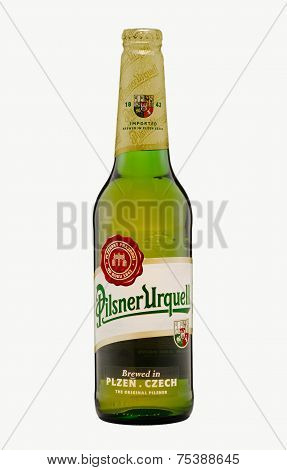 One Bottle Of Pilsner Urquell Beer