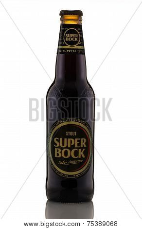 One Bottle Of Black Beer Super Bock Stout