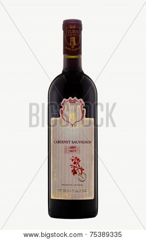 One Bottle Of Red Dry Wine Tura Cabernet Sauvignon 2007