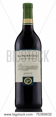 One Bottle Of Red Dry Wine Woodbridge Merlot California 2011