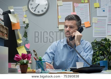 White Collar On The Phone