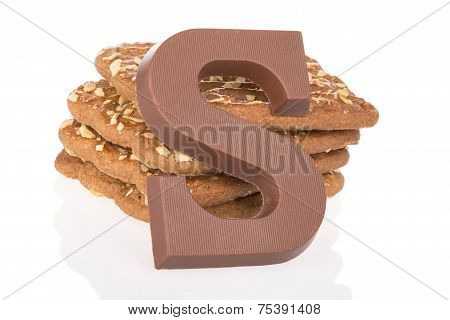 Chocolate Letter And Speculaas, Dutch Sweets At 5 December