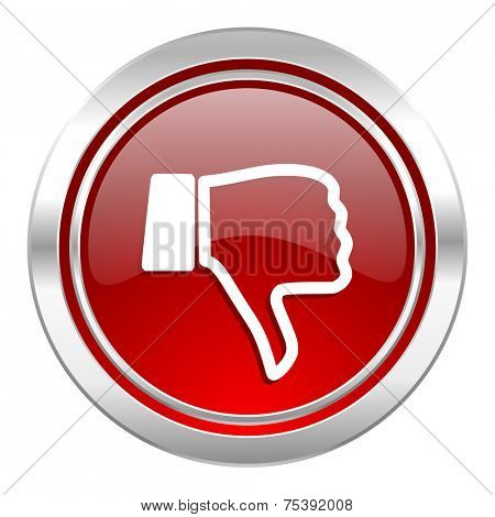 dislike icon, thumb down sign
