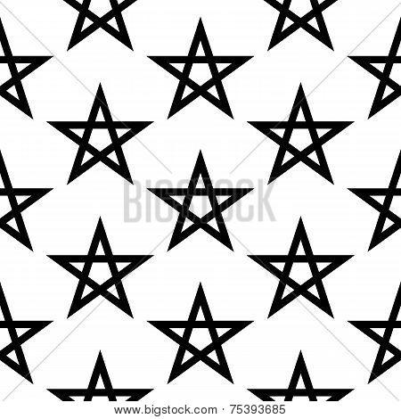 Pentagram Button Seamless Pattern