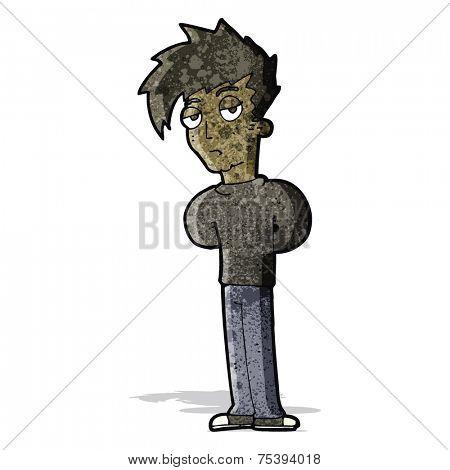 cartoon jaded teenager