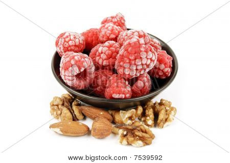Frozen Raspberries And Nuts