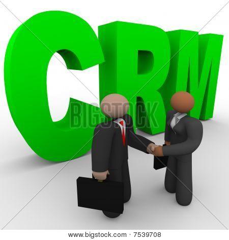 Crm - Business People Handshake