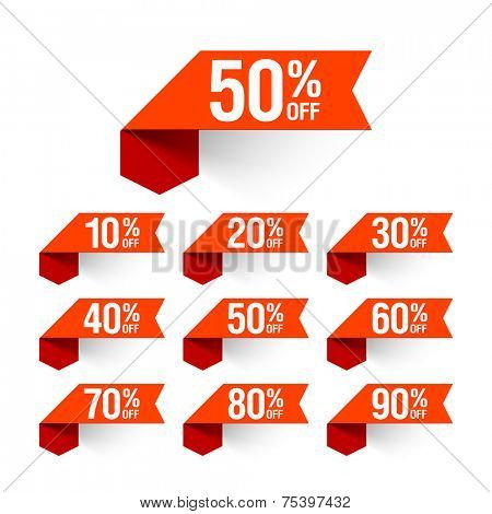 Sale, discount labels. Vector.