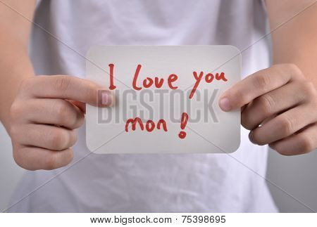 I Love You Mum Sign As Symbol For Best Wishes