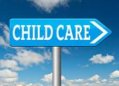 picture of babysitting  - child care center road sign in daycare or cr - JPG