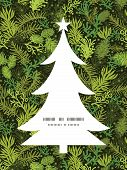 picture of monochromatic  - Vector evergreen christmas tree Christmas tree silhouette pattern frame card template graphic design - JPG