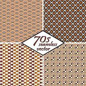pic of 70-year-old  - collection of four seamless vintage 70s backgrounds - JPG