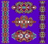 pic of adornment  - ornamental of violet colour floral adornment - JPG
